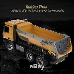 1/14 HUINA 1573 RC Dumping Engineering Truck 2.4G 10CH Remote Control Car Toy#GD