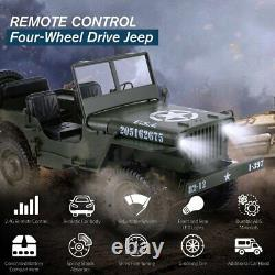 110 RC Car 2.4G 4WD 4x4 Remote Control RC Cars Jeep Off-Road Military Vehicle