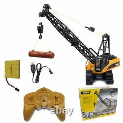 114 2.4G 15CH Remote Control Engineering Truck Heavy Crane Vehicle Car Kids Toy