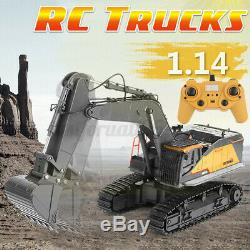114 RC Crawler Car 22 Channel 2.4Ghz Alloy Excavator Truck With Remote Control