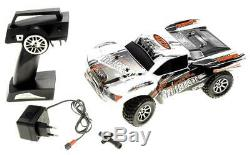 118 2.4Gh 4WD Trigger Remote Control Truck White Fast Motor Durable R/C Car NW