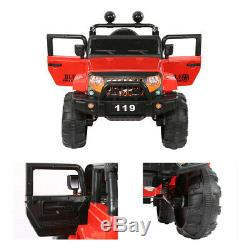 12V 2 Kids Electric Ride On Toy Truck Car WithRemote Control 2 Speeds Lights Red