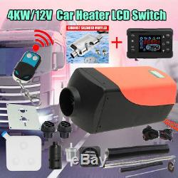 12V 4KW Air Diesel Heater Remote Silencer Fuel Tank For Trucks Boat Car Trailer