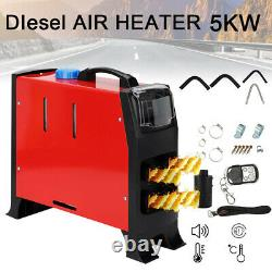 12V 5KW 4 Holes Air Diesel Night Heater LCD Monitor Remote Trucks Boats Car home