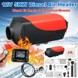 12V 5KW Diesel Fuel Air Heater LCD Switch Car Truck Heating Remote