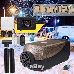 12V 8000W Air Diesel Heater LCD Monitor Remote + Silencer For Truck Boat Car