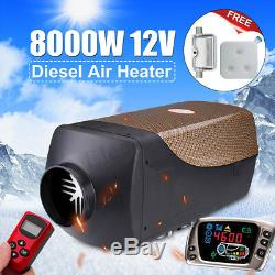 12V 8KW Air Diesel Heater 2019 Gold LCD Thermostat & Remote For Car Truck Boat
