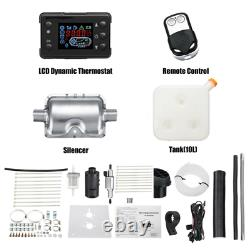 12V 8KW Air Diesel Heater LCD Monitor Remote Silencer For Truck Boat Car 8000W