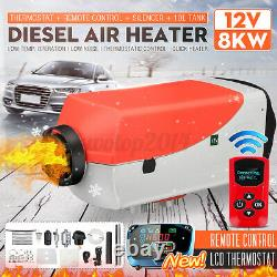 12V 8KW Air Heater Car Truck Boat Fuel Diesel LCD Thermostat Remote Control Tank