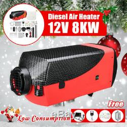 12V 8KW Diesel Air Heater LCD Thermostat Remote Control For Trucks Boat Car US