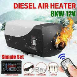 12V 8KW Diesel Air Heater Remote Control Low Noise 8000W For RV Truck Car Boat