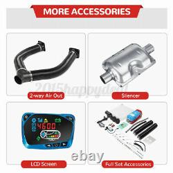 12V 8KW Metal Diesel Air Heater LCD Remote Thermostat Quiet For Trucks Boat Car