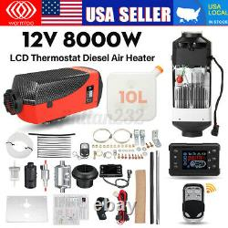 12V Air Diesel Heater 8KW 8000W for Motor-homes Boats Bus Car Truck LCD Remote
