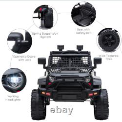 12V Kids Electric Ride On Car Truck Toy SUV with Remote Control for 3-6 Yrs