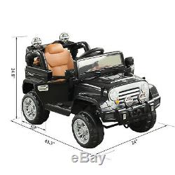 12V Kids Electric Ride On Toy Truck Jeep Car WithRemote Control 2 Speeds Lights BK