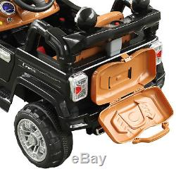 12V Kids Electric Ride On Toy Truck Jeep Car with Remote Control MP3 Black