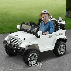 12V Kids Electric Ride Toy Truck Jeep Car with Remote Control 2 Speeds Lights MP3