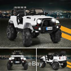 12V Kids Remote Control Riding Truck Car with LED Lights New Toy Gift Idea Jeep