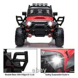 12V Kids Ride on Truck Style Police Car SUV with Remote Control Music Light Gift