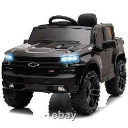 12V Silverado Electric Ride On Car Truck Safety Toy Music LED WithRemote Control