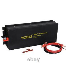 12V to 110V 3000W Pure Sine Wave Inverter Car Power Battery Remote Switch Truck