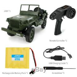 2.4G 110 4WD Off-road Transporter Military Jeep Willy RC Car WithRemote Control
