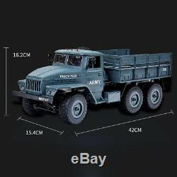 2.4G RC Army Truck 112 Simulated 6WD Soviet Ural Remote Control Off-road Car