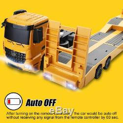 2.4G RC Tow Truck Remote Control Flat-Bed Trailer 4WD RC Semi-Truck