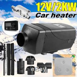 2000W 12V Air diesel Heater New LCD Monitor Remote 2KW For Trucks Boats Bus Car