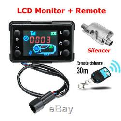 4KW 12V Air Diesel Heater LCD Monitor Remote With Silencer For Boat Truck Car RV