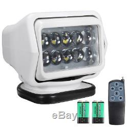 50W LED Marine Boat Truck Car Remote Control Spotlight Searchlight Waterproof UK