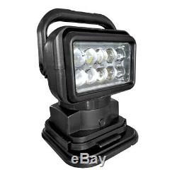 50W LED Remote Control Search Light Magnetic Spot Wireless 24V Offroad Truck Car