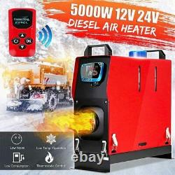 5KW 12V Air Diesel Heater LCD Thermostat Remote Warmer All In 1 For Truck Car RV