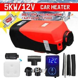 5KW 12V Diesel Air Heater Digital Switch Remote Control For Car Truck Trailer US