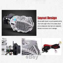 5KW 12V Vehicle Diesel Air Heater LCD REMOTE CONTROL Silencer For Truck Boat Car
