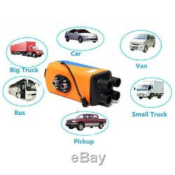 5KW Air Diesel Fuel Heater with Remote Control For 12V Truck Boat Car Trailer