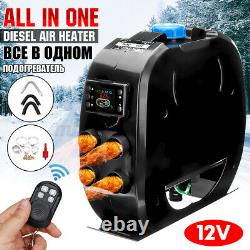 5KW DC 12V Diesel Air Heater LCD Car Truck Fuel Parking Fast Heating With Remote