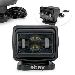 7 60W LED Search Light Rotating Remote Control Truck Car Driving Spot Lamp IP65