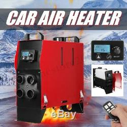 8KW 12V Air Diesel Heater 4-Hole All In 1 LCD Thermostat Remote For Car Truck
