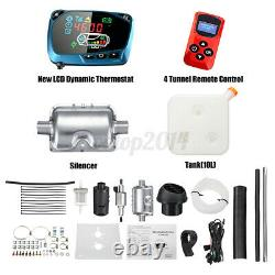 8KW 12V Diesel Air Heater Car Truck Boat LCD Thermostat Remote Control 10L Tank