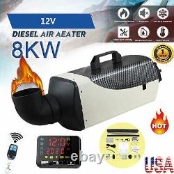 8KW 12V Diesel Air Heater LCD Display Remote 9L Tank For Truck Boat Car Bus USA
