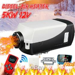 8KW 12V Diesel Air Heater LCD Remote Control Silencer For Truck Boat Car Trailer