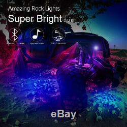 8x RGBW LED Rock Lights with Remote For JEEP Off Road Truck Car ATV Under Body USA