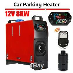 All in one 8KW 12V Air Diesel Heater LCD Display Remote For Car Truck Trailer US