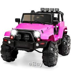Best Choice Products 12V Kids Ride-On Truck Car Toy with Remote Control LED Light