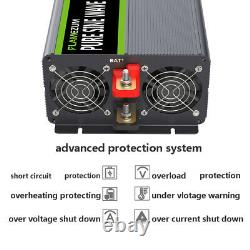 DC 12V to AC 120V Car Power Inverter Pure Sine Wave 4000W 8000W LCD&Remote Truck