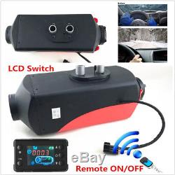 DC12V 5000W Car Truck Air Diesel Fuel Heater LCD Monitor Wireless Remote Control