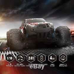 DEERC RC Car High Speed Remote Control Car 118 Scale 4WD Off Road Monster Truck