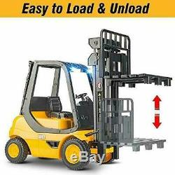 DOUBLE E Remote Control Forklift 1/8 Large Size Toys Truck with