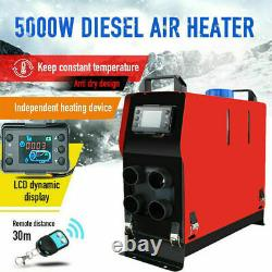 Diesel Air Heater All in One 12V 5KW LCD Remote 4-Hole For Car Trucks Camper RV